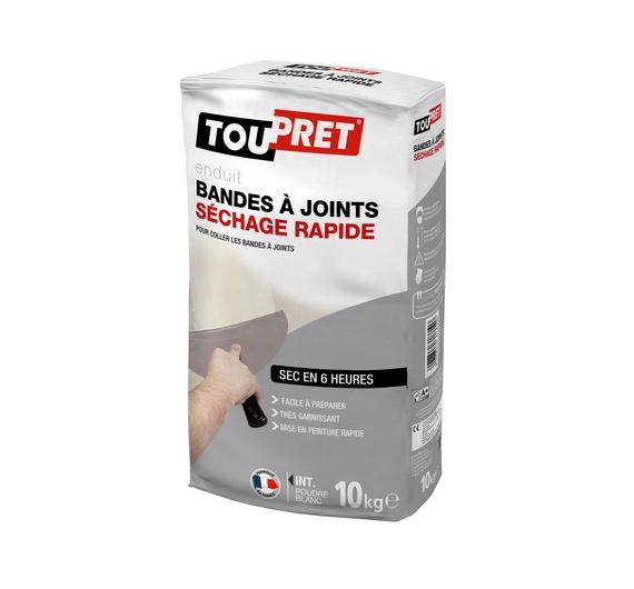 Toupret Enduit Bandes à Joints Séchage Rapide Poudre 10kg