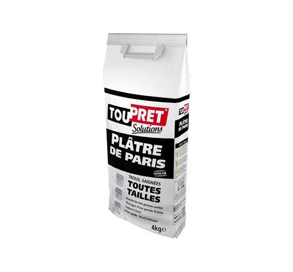 Toupret Solutions Platre Paris 4kg